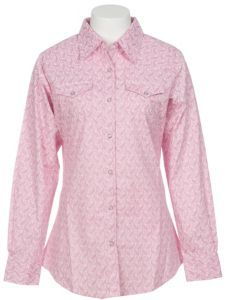 Wrangler Ladies Pink Paisley Tough Enough to Wear Pink Western Shirt!!