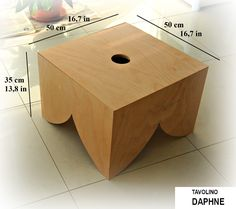"""DAPHNE""  coffee table  made of  beech wood. Simple, functional,funny, it characterizes each environment giving a touch of design. Perfect for waiting rooms, offices, living rooms and studies."