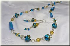 Pretty glass beads make a great necklace set