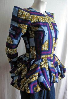 African Print Peplum Jacket #Africanfashion #AfricanClothing #Africanprints #Ethnicprints #Africangirls #africanTradition #BeautifulAfricanGirls #AfricanStyle #AfricanBeads #Gele #Kente #Ankara #Nigerianfashion #Ghanaianfashion #Kenyanfashion #Burundifashion #senegalesefashion #Swahilifashion DK