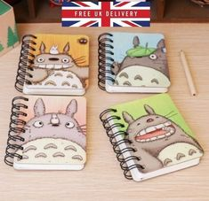 Totoro Hardback Notebook Lined Pages Pad Hard Printed Notepad Diary Anime
