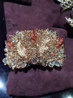 Zorab Atelier de Creation bracelet depicting fish with coral reef ~JCK Luxury jewelry show
