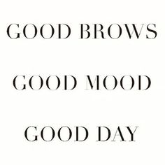 Good brows make for a good day! Call us today to set up an appointment for either brow shaping or microblading with our licensed aesthetician 585-444-EYES #Eyebrows #EnvisionROC