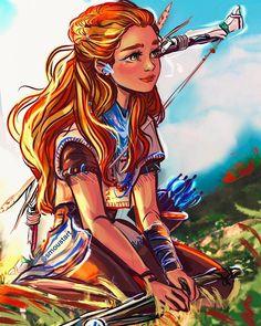 Character Art, Character Design, Character Ideas, Black Butler Funny, Princess Merida, Anime Warrior, Fanart, Horizon Zero Dawn, Anime Oc