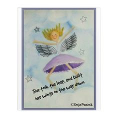 #She took the leap and built her wings on the way acrylic wall art - customized designs custom gift ideas