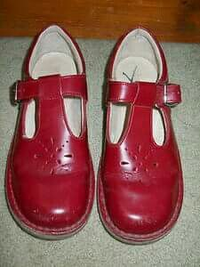 School shoes, how I longed for a red pair but we always had brown or black - better wearing. Vintage Shoes, Retro Vintage, Retro Fashion, Vintage Fashion, Clarks Sandals, Childhood Days, Sweet Memories, Leather Buckle, The Good Old Days