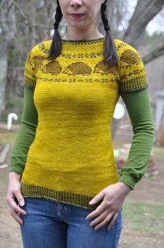 Knitted Hedgehog Sweater By Jettshin – So Delicate and Sweet!