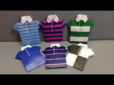 Free Origami Shirt Paper - Print Your Own! - Rugby Shirts - YouTube