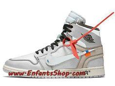 separation shoes f037d 673c4 Off-White Air Jordan 1 White 2018 AQ0818-100 Chaussures Jordan Officiel Pas  Cher