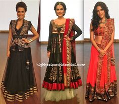 Traditional indian wear anarkali Neha dhupia from highheelconfidential.com