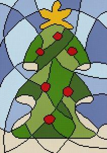 grafico gratis de punto de cruz para descargar en pdf, imprimir y bordar adornos de navidad