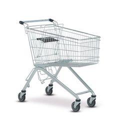 Nákupní vozíky Wanzl série ELA mají sklopnou odkládací plochou na přepravky s nápoji už v sériovém provedení.