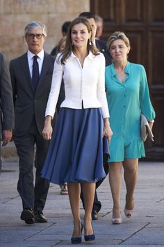 Queen Letizia of Spain attends the opening of the Scholar University College year at the Salamanca University on September 14, 2017 in Salamanca, Spain
