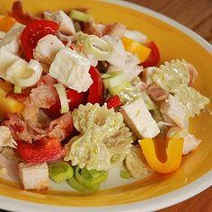 Recept krämig pastasallad med kyckling