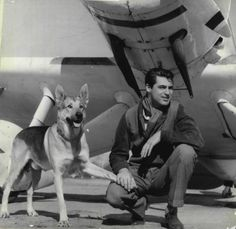 Cary Grant - and his German Shepherd