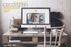 This is one of the prettiest mockup scenes I've ever seen. Just gorgeous. Workspace Mockup Set 3 by Best Pixels on @creativemarket