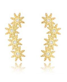 ear cuff de estrelas dourado semi joias