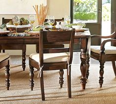 Hayden Extending Dining Table #potterybarn - this is similar to my parent's kitchen table from Pottery Barn. Really solid and can sit up to 16