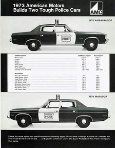 Thanks to the LAPD and LASD using them wholeheartdly,and publicity on the classic TV show 'Adam-12',the Matador and Ambassador Police packages sold well all over North America :)