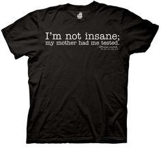 The Big Bang Theory Shirt Im Not Insane Black Tee T-shirt Large ...