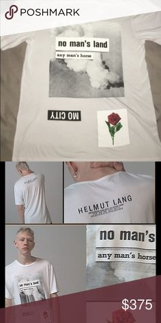 Travis Scott x Helmut Lang Rose tee Collaboration between Travis Scott and Helmut Lang Rose Print tee. Size S but not TTS, fits medium.  Phone number 305-741-9303 buy thru there not the app Helmut Lang Shirts Tees - Short Sleeve