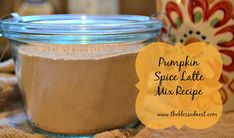 Pumpkin spice latte mix recipe