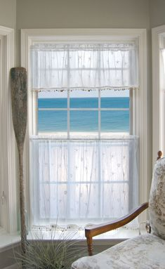 Sand Shell Curtain Collection - White