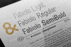Free Font Friday: Fabiolo - http://www.designyourworld.space/free-font-friday-fabiolo/