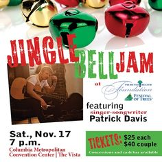 Jingle Bell Jam, featuring Patrick Davis, is new this year at #FestivalofTrees! Bid on #trees and #wreaths, enter for the chance to win a prize pack and enjoy some live music on Nov. 17.