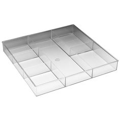 "Features:  -Drawer organizer.  -Material: Clear resin.  -Sturdy.  Product Type: -Divider.  Color: -Clear. Dimensions:  Overall Height - Top to Bottom: -1.69"".  Overall Width - Side to Side: -11.88""."