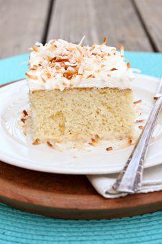 Coconut Tres Leches Cake on MyRecipeMagic.com