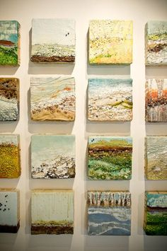 cool idea- making mini paintings on tiles Robin Luciano Beaty: Studio