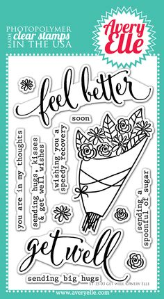 Avery Elle: CHA Previews Day 4 - Love these Get Well wishes stamps.
