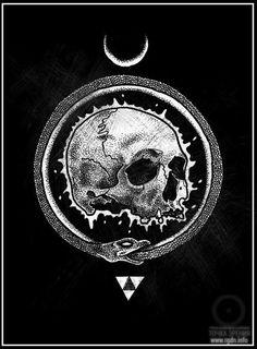 The Great Masonic Library: 300 Rare Masonic books poems illustrations & more. Tattoo Caveira, Totenkopf Tattoos, Satanic Art, Arte Obscura, Occult Art, Mystique, Arte Horror, Wow Art, Skull And Bones