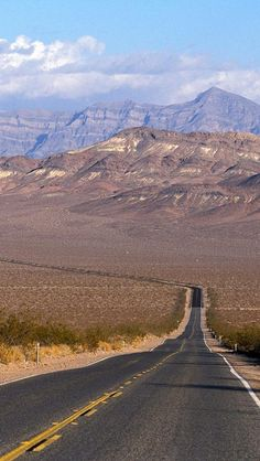 Lonely Road to Shoshone, Death Valley National Park, California