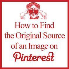 Como encontrar a fonte original de uma imagem no  Pinterest