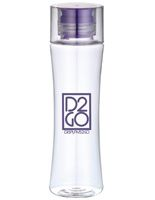 16oz Clear Reusable Water Bottle, BPA Free, 1 Color Custom Imprint – Purple Cap
