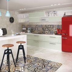10  Ladrilho hidraulico na cozinha, no blog Detalhes Magicos