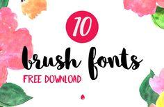 10 fontes estilo Brush para baixar de graça