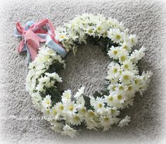 Priscillas: Daisy Wreath Redo