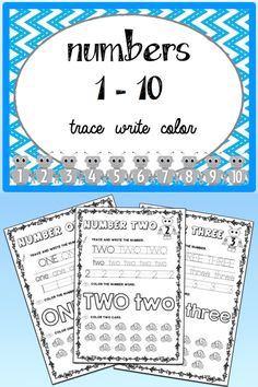 These engaging #worksheets will help your kids learn how to read and write the #numbers from 1 to 10.  You can easily use the worksheets for #math centers, morning work, #do-now activities, early finishers or you can send the worksheets home for #homework.