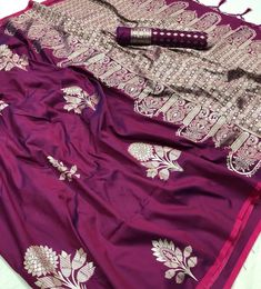 Kanthkala softsilk saree collection with unstitched blouse Price : Including shipping within India Code : . **The actual colour may slightly differ due to photography and lighting** # Indian Designer Sarees, Indian Designer Wear, Indian Sarees, Pakistani, Trendy Sarees, Trendy Dresses, Indian Attire, Indian Wear, Indian Outfits