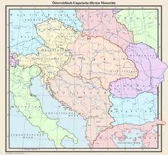 Osterreichisch-Ungarische-Illyrien Monarchie by Samuel-Von-Strasburg Steampunk Airship, Austro Hungarian, Fantasy Map, Alternate History, Historical Maps, Deviantart, Flag, Germany, Amazon