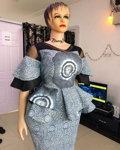 Classic and Creative Ankara Peplum Top African Fashion Ankara, Latest African Fashion Dresses, African Print Fashion, Africa Fashion, Long African Dresses, African Print Dresses, African Attire, African Wear, Ankara Rock