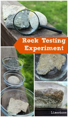 Awesome science experiment! Rock testing & geology for kids -- perfect for summer science camps!