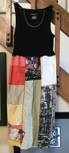 Ladies patchwork up cycled dress/tunic