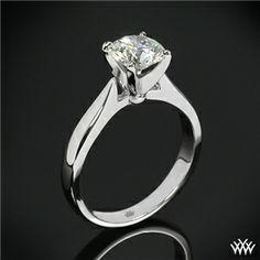 'Sleek Line' Solitaire Engagement Ring #Whiteflash #Verragio