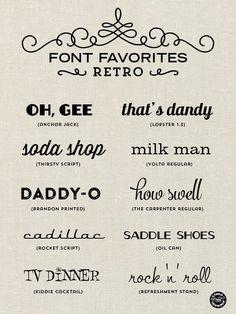 Elegance and Enchantment Font Favorites - Retro Design Web, Website Design, Retro Design, 1950s Design, Type Design, Design Model, Logo Design, Photoshop, Typographie Fonts