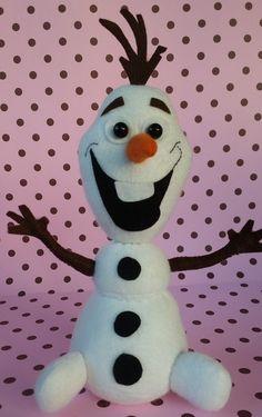 Olaf de feltro 3D #Frozen #Olaf