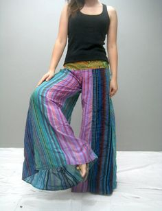 Colorful wide legs yoga pant  LMCWL314.1 by thaitee on Etsy
